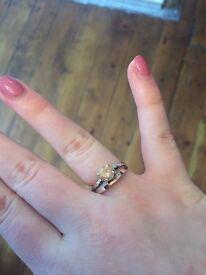 Sterling Silver Ring with Semi Precious Stone