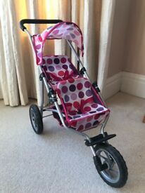 Mamas & Papas dolls tandem double pushchair