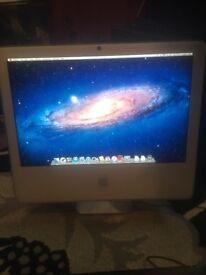 "Apple Imac 20"" slight fault but works"