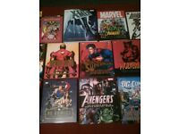 marvel and DC collectors books