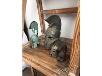 Decorative helmets of history