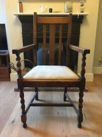 Vintage wooden chair (100h, 50d, 57w) 1/2