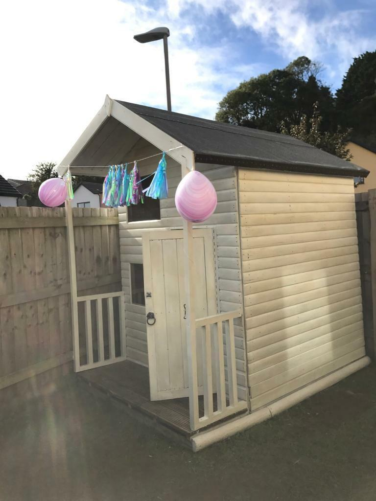 Childrens Two Storey Wooden Playhouse With Veranda Painted In Farrow And Ball Old White In Plymouth Devon Gumtree