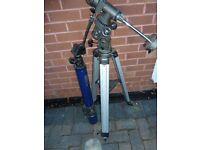 spotting telescope and tripod