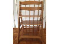 Wooden Hauck highchair