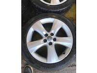 "17"" GENUINE VAUXHALL ASTRA J ALLOY WHEELS SET OF 4"