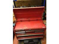 RED 8 DRAWER CLARKS METAL TOOL BOX