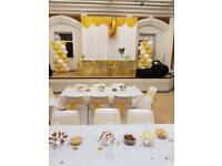 Chair covers back drops