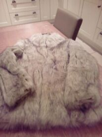 Fake fur coat size 10