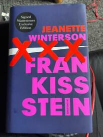 Frankissstein by Jeanette Winterson signed by author