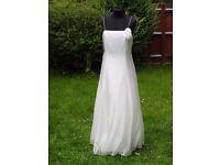 UK Size 10 Handmade Designer Debut Debenhams Stunning Ivory Wedding Dress Rose
