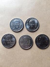 Official England squad coins
