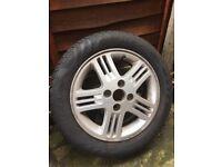 "Hyundai alloy wheel with tyre 14"" £18"