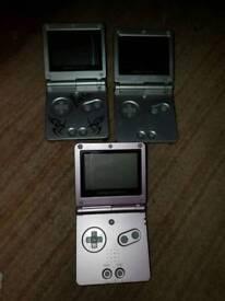 Various Nintendo gameboy sp consoles