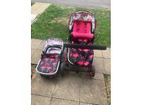 Cosatto Flamingo Fling Giggle 2 fully adjustable pushchair pram stroller