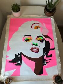Andy Warhol Style Marilyn Monroe Canvas Painting