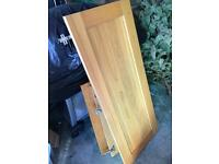 Wooden cupboard kitchen door panels shaker various sizes oak solid project storage garage workshop