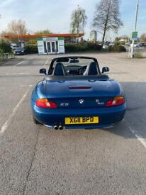 image for REDUCED BMW z3 facelift 6 cylinder 2.0 roadster, electric roof/seats with MOT and Tonnau cover