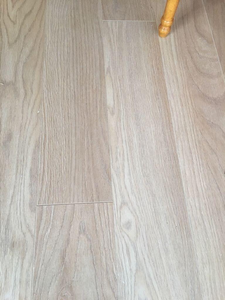 Laminate Flooring Cardiff Oak Light Colour 6 Months Old