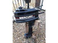 Mercury 4HP outboard //Fully rebuilt//Clean!!