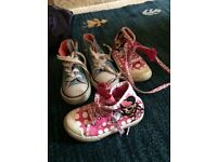 Girls size 5 toddler shoes