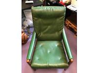 Green Vintage Style Low Chair