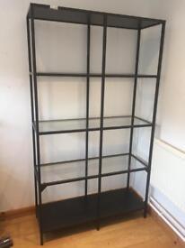 Ikea glass shelving unit