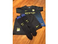 Football Man City away with player name and number size 6-7
