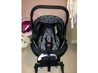 Sliver Cross car seat with isofix base