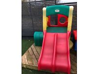 Little tykes climbing play and outdoor slide