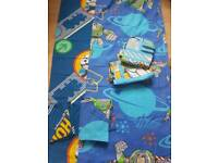 cot bed duvet cover set Thomas the thank and toy story plus curtains toy story