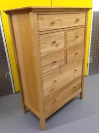 John Lewis essence oak chest of drawers dresser sideboard - Laura Ashley habitat loaf oka Lombok