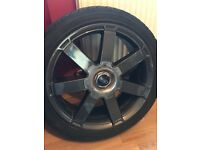 4X EXCELLENT CONDITION FORD ALLOYS WITH TYRES
