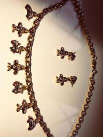 Gold Plated Necklace & Earrings