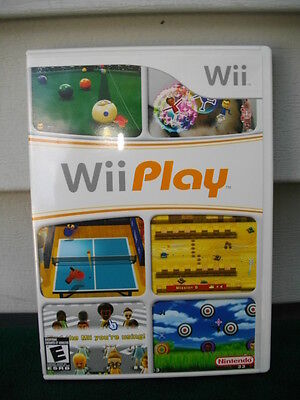 NINTENDO WII PLAY GAME COMPLETE & TESTED
