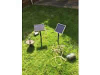 Pond solar fountain pump & solar aerator