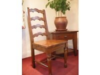 Beautiful reproduction 18th Century ladderback dining chair (s) made from reclaimed wood £80 each