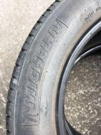 vw starter motor, car ramps, 205/55/16 used tyres on steel wheels & cd alpine player & used avon tyr