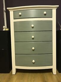 Annie Sloan painted Solid chest of drawers