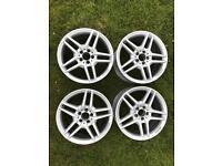 """Genuine Mercedes E Class W212 AMG 18"""" Inch Alloy Wheels Rims 8.5J ET48 9J ET54"""