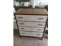 PROJECT vintage retro chest of drawers solid wood