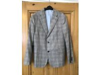 Men's M&S tailored fit wool check jacket