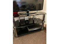 TV corner stand in glass and metal