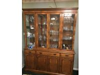Solid Wood Wall Unit / Display Cabinet