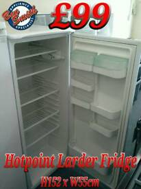Tall Larder Fridge Hotpoint White