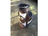 Golf Bag by Powakaddy in fair used condition . All zips working.