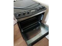 Zanussi stainless steel electric cooker with induction hob