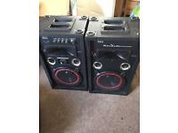 X2 party machine 75w speakers
