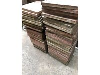 PAVING SLABS - White slabs, plus Redish/Pinkish Paving Slabs available