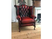 Queen Anne Chesterfield Armchair